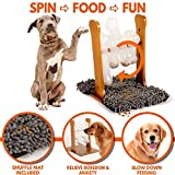 Pupper Pamper Interactive Dog Food Puzzle Toy w/Snuffle Mat - Treat Dispensing Dogs Slow Feeder - Indoor Boredom Stress Relief Smart Dog Game for Smart Training - Refillable Tricky IQ Feeding Game