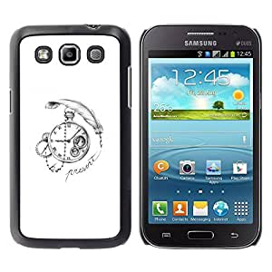 PC/Aluminum Funda Carcasa protectora para Samsung Galaxy Win I8550 I8552 Grand Quattro time deep write watch white black / JUSTGO PHONE PROTECTOR