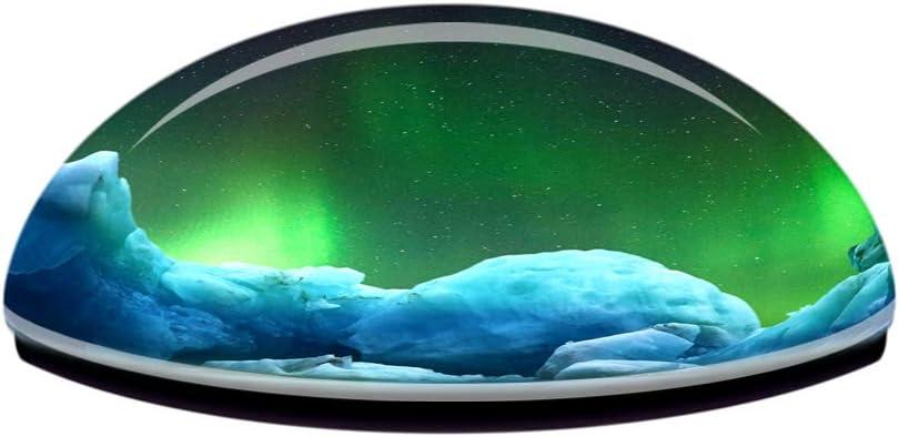 Weekino Glaciar Aurora Groenlandia Dinamarca Im/án de Nevera 3D de Cristal de la Ciudad de Viaje Recuerdo Colecci/ón de Regalo Fuerte Etiqueta Engomada refrigerador