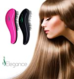 DETANGLING HAIR BRUSH or COMB - Glide Through Thick, Fine, Curly, All Types of Natural & Tangled Hair - Wet & Dry - 2 Piece - Pink & Black Detangler Comb - For Kids, Women, Men - IDEAL GIFT!