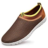 Sibba(TM) Men's Breathable Mesh Slip On Loafers Outdoor Sport Running Shoes,Beach Aqua,Workout,Walk,Athletic,Exercise,Drive (9.5, Brown) Review