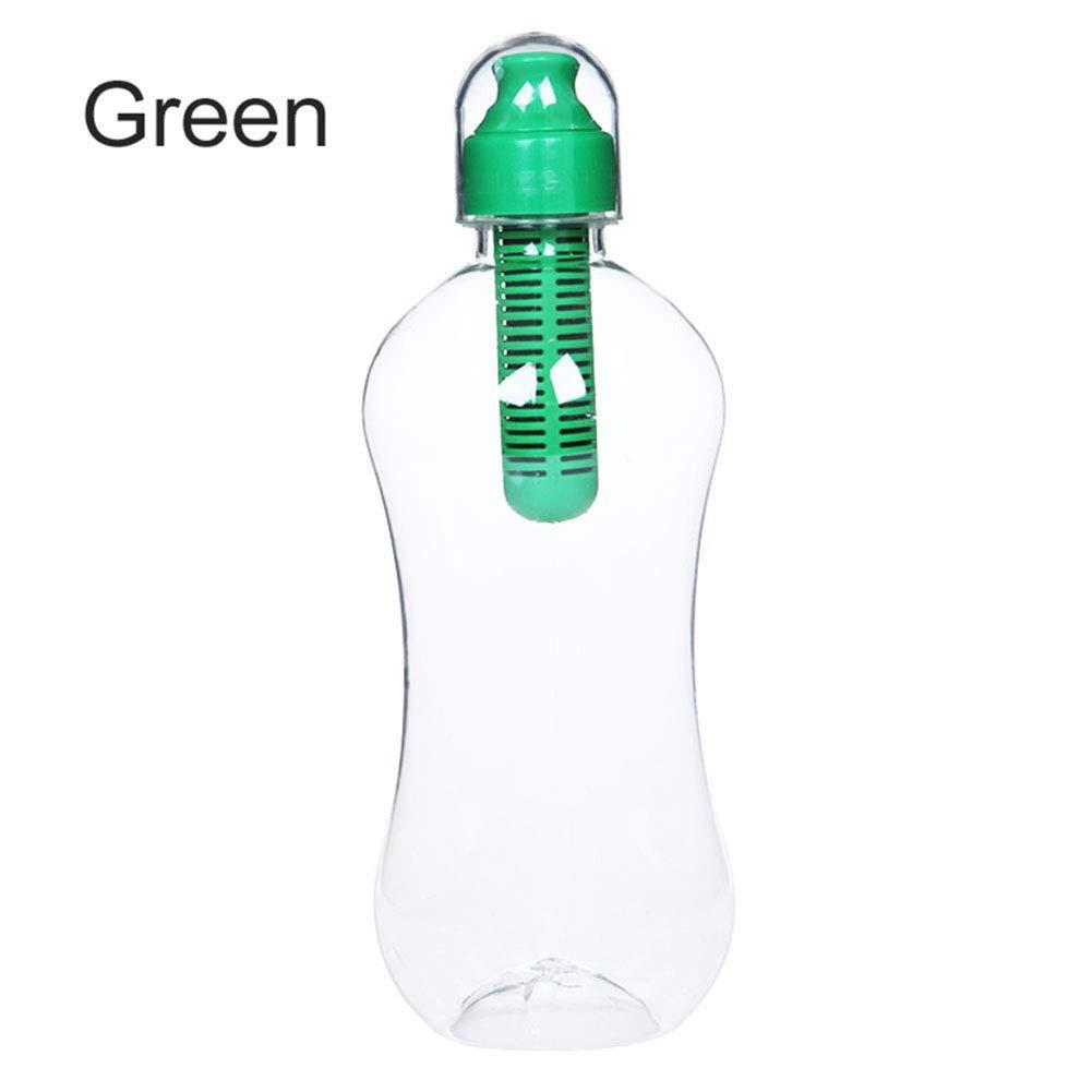550Mlportable réutilisable filtrage Bouteille d'eau pour voyage randonnée Camping Green