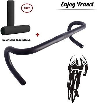 GWSPORT Manillar Clásico para Bicicleta de Paseo Aluminio Cromado ...