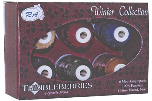 Robison-Anton Thimbleberries 6-Pack Cotton Thread Collection, Winter