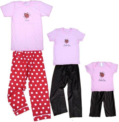 Little Bug Pink Shirt Pant Set - Toddler 4T, S/S, Black Pants