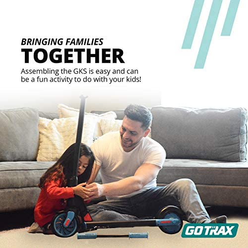"Gotrax GKS Electric Scooter for Kids Age of 6-12, Kick-Start Boost and Gravity Sensor Kids Electric Scooter, 6"" Wheels UL Certified E Scooter"