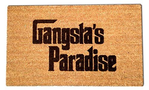 Gangsters Paradise Laser Engraved Coir Fiber Doormat 30