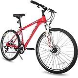 "Merax 26"" Dual Disc Brakes 21 Speed Hardtail Mountain Bike"