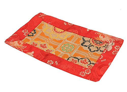 DharmaObjects Tibetan Buddhist Silk Brocade Table Runner/Shrine Cover/Altar Cloth/Table Cover (12 X 7 Inches)