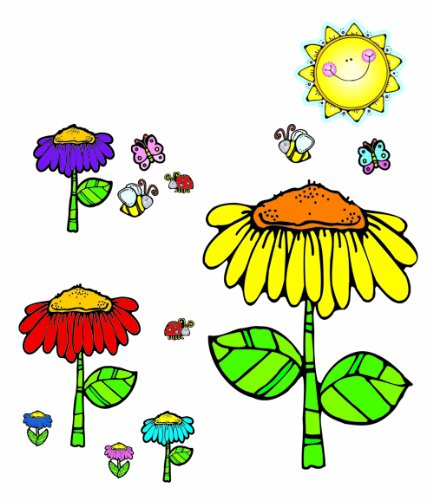 Carson Dellosa D.J. Inkers Flower Garden Bulletin Board Set (610025) -