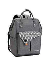 Lekesky Business Laptop Backpack 15.6 Inch Women Backpack for College School Computer Backpack, Casual Hiking Travel Daypack, Dark Grey