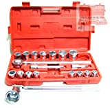 21 pc 3/4'' Dr Jumbo Socket Set Ratchet Wrench SAE Chrome Extension bar Ratchet
