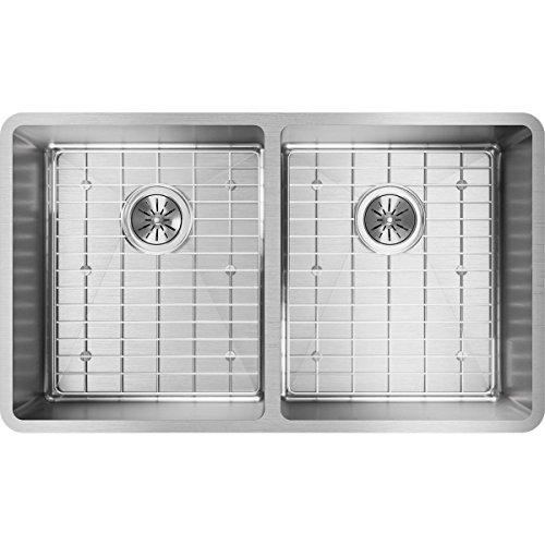 Elkay Sink Template - Elkay Crosstown ECTRU31179DBG Equal Double Bowl Undermount Stainless Steel Kitchen Sink Kit