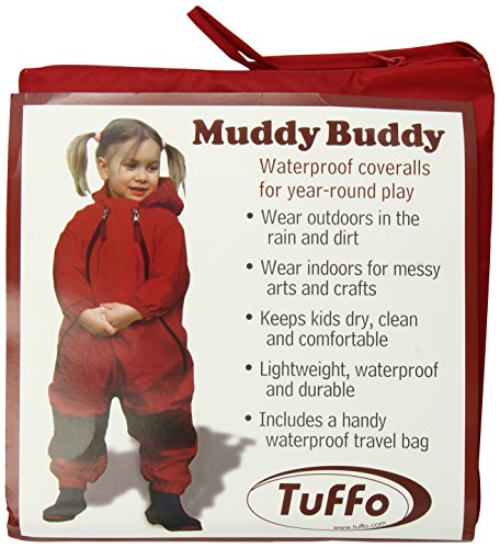 Tuffo Muddy Buddy Coveralls, Red, 36 Months