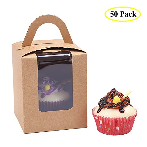 clear-bakery-pastry-brown-kraft-paper-single-cupcake-boxes-with-window-and-handle-wholesale50pcs