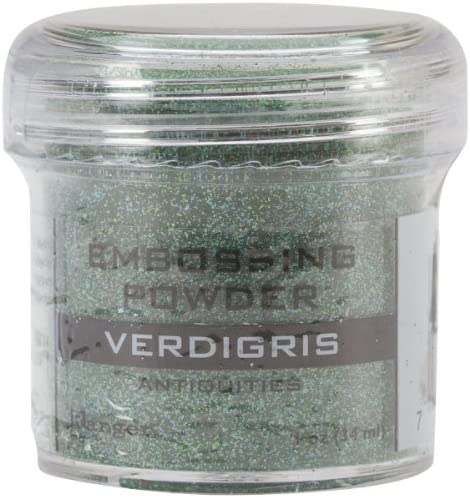 Ranger Embossing Powder, 1-Ounce Jar, Verdigris