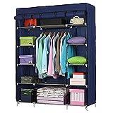 Lykos 5-Layer 12-Compartment Non-woven Fabric Wardrobe Portable Closet Navy (133x46x170cm)
