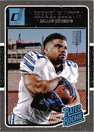 Ezekiel Elliott 2016 Donruss Football Mint Rated Rookie Card #368 Picturing This Dallas Cowboys Star in His White Jersey