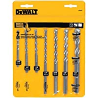 Deals on DEWALT DW5207 7-Piece Premium Percussion Masonry Drill Bit Set