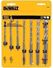 DEWALT DW5207 Premium Percussion Masonry Drill Bit Set, 7-Piece