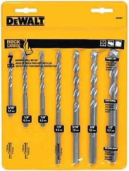 Dewalt 7-Piece Premium Percussion Masonry Drill Bit Set