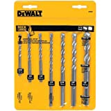 DEWALT Masonry Drill Bit Set, Percussion, 7-Piece (DW5207)