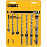 #6: DEWALT DW5207 7-Piece Premium Percussion Masonry Drill Bit Set