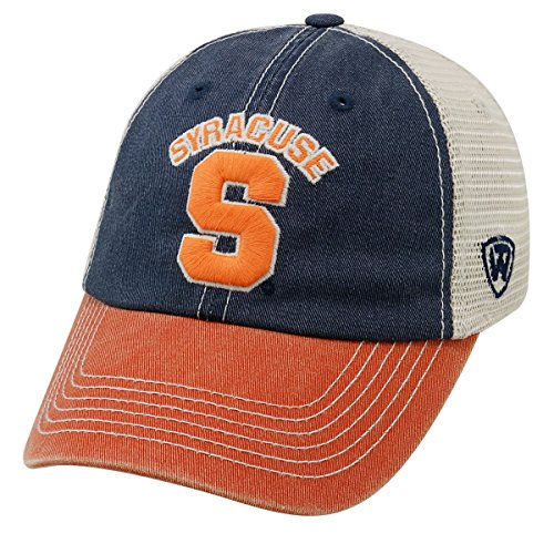 Top of the World NCAA Syracuse Orange Offroad Snapback Mesh Back Adjustable Hat, One Size, Navy/Orange/Khaki
