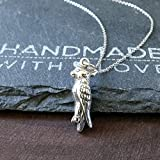 Sterling Silver Cockatiel Charm Necklace, 18'