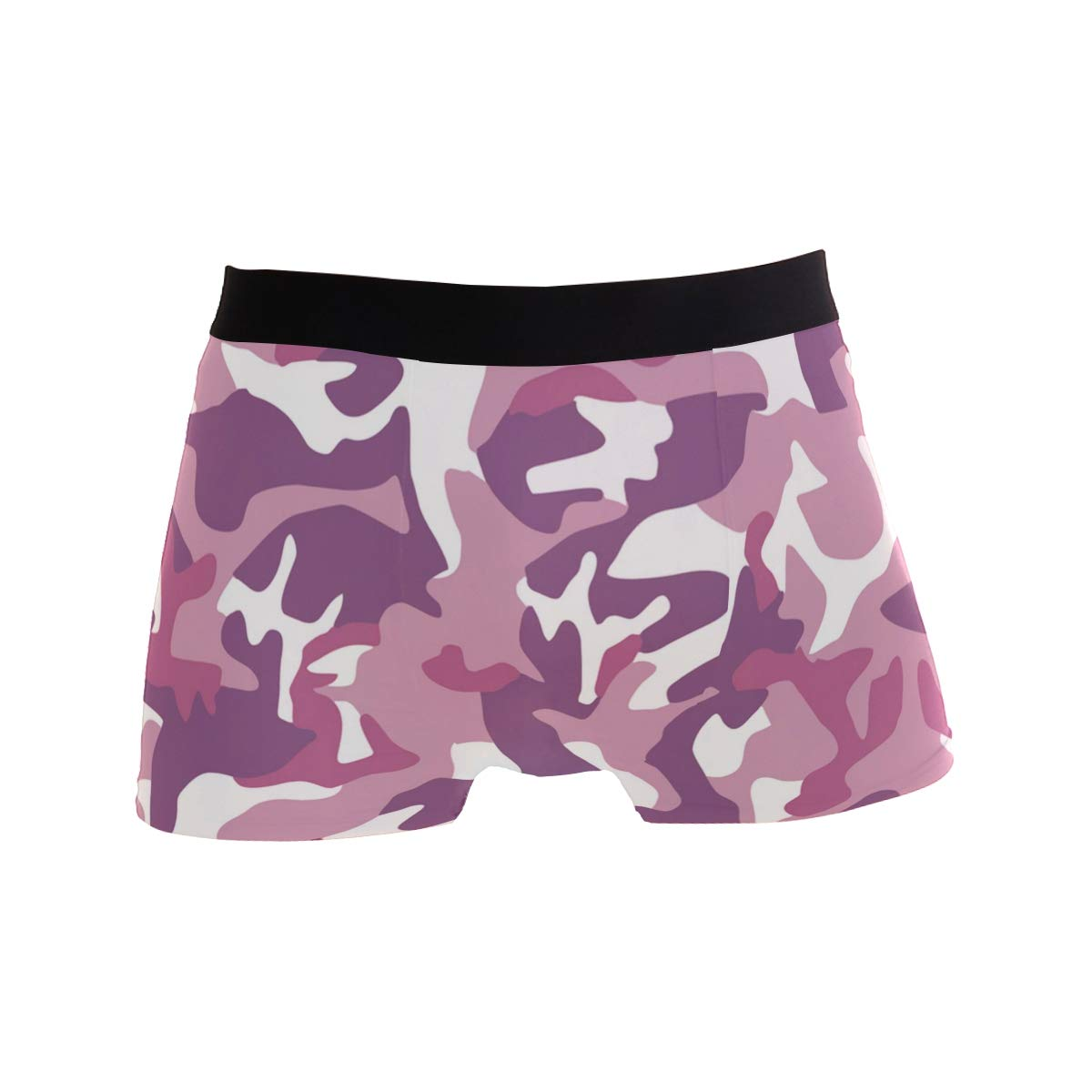 WaKaBlues Camo Military Hipster Pink Mens Sport Boxer Brief Breathable Underwear
