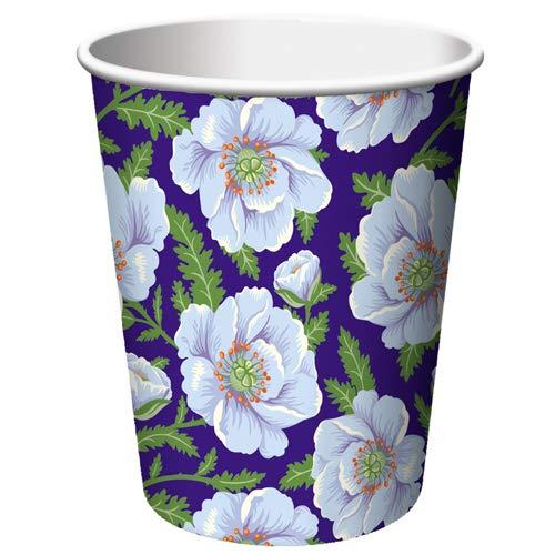 OKSLO Floral 'mediterranean garden' 9oz paper cups (8ct)