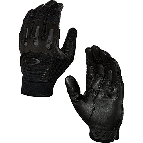 Oakley Transition Tactical Mens Snow Snowmobile Gloves - Jet Black/Medium
