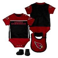 NFL Arizona Cardinals Creeper/Bib and Bootie Set, Black, Youth 18 Months