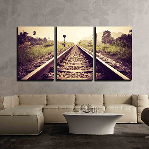 vintage railroad x3 Panels
