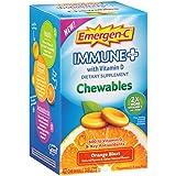 Cheap Emergen-C Immune+ Chewables (42 Count, Orange Blast Flavor) Immune System Support Dietary Supplement Tablet With 600 IU Vitamin D, 1000mg Vitamin C