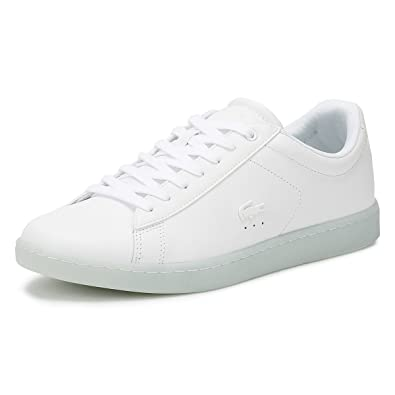 318a9e38a Lacoste Womens White Light Blue Carnaby Evo 118 3 Sneakers-UK 4
