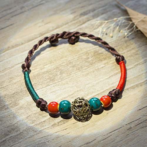 Antique hand-woven bracelets inn retro Sen Deparent of Student simple wild jewelry accessories rope antiquity aosphere from Generic