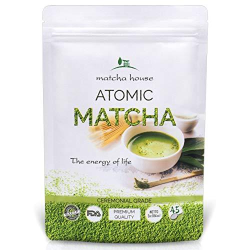 Matcha House Premium Ceremonial Grade Green Tea Powder 84g (3oz) - No Additives - Radiation Free - Zero Sugar - First Harvest - FDA Organic Certified