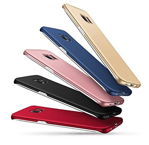 Wouier® Funda Samsung Galaxy S6 Edge Perfecto Delgado Suave sedoso plástico PC de Anti-Scratch teléfono para Galaxy S6 Edge Oro rosa