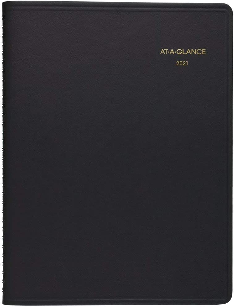 "2021 Two Person Daily Appointment Book & Planner by AT-A-GLANCE, 8"" x 11"", Large, Black (702220521)"