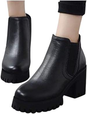 bottine noir femme bout rond
