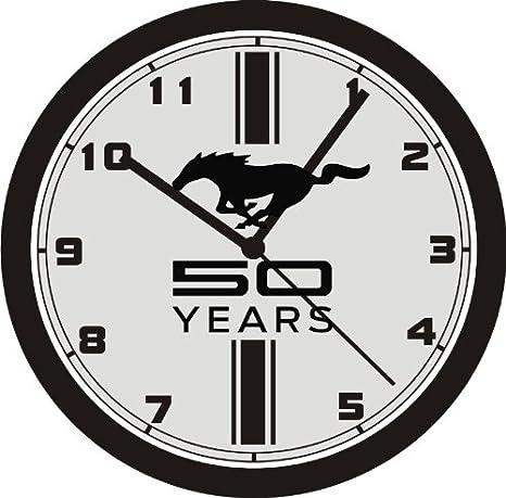 Amazon Com Ford Mustang 50 Years Wall Clock Free Usa Ship Home