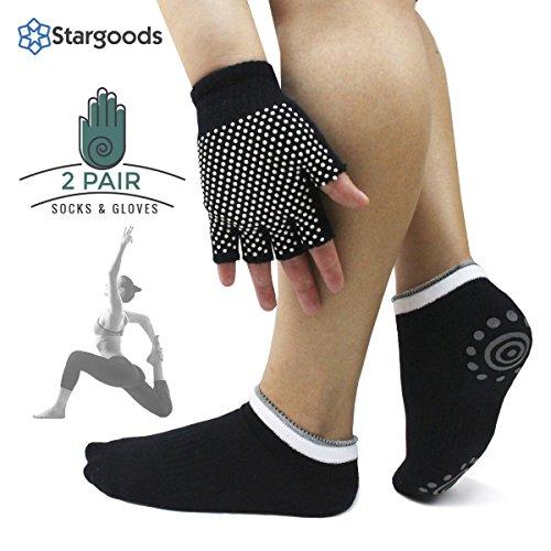Stargoods-Yoga-Socks-Yoga-Gloves-Set-2-pair-Non-Slip-Skid-Socks-Gloves
