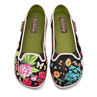Hot Chocolate Design Chocolaticas Garden Women's Slip-On Fashion Sneaker Flat Multicoloured HCD 38