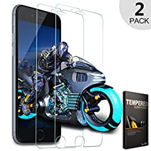 iPhone 6s Glass Screen Protector, [Tempered Glass] LoHi 2-Pack iPhone 6 Glass Screen Protector Film HD Clear for Apple iPhone 6s 6 4.7 Inch