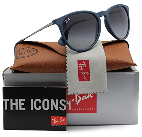 Ray-Ban RB4171 Erika Sunglasses Matte Blue w/Grey Gradient (6002/8G) 4171 60028G 54mm - Erika Rb4171