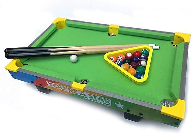 Zixin For niños Juegos de Mesa, Mini Mesa Billares Juego de Mesa de Billar con Piscina Petite pequeño Mini Mesa de Billar for el Adulto y Chindren (Color: Verde, Tamaño: 51.5x31.5x15cm): Amazon.es: