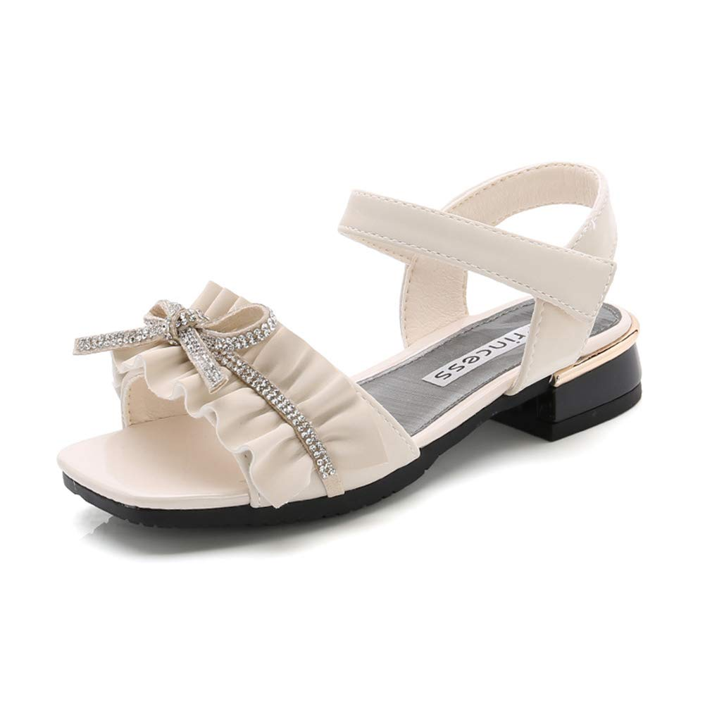 Mobnau Bowknot Cute Leather Summer Fashion Sandals for Girls Sandles