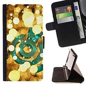 Momo Phone Case / Flip Funda de Cuero Case Cover - Bright Green or Nuit - Motorola Moto E ( 1st Generation )