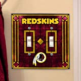 Washington Redskins Art Glass Lightswitch Cover (Double)